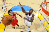 Houston Rockets v Oklahoma City Thunder: Serge Ibaka and Luis Scola Photographic Print by Larry W. Smith