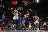 New York Knicks v Denver Nuggets: Carmelo Anthony, Amar'e Stoudemire and Danilo Gallinari Photographic Print by Doug Pensinger