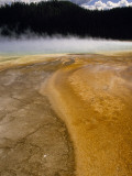 Steam Rises from Grand Prismatic, Largest of Yellowstone's Thermal Springs Photographic Print by Raymond Gehman