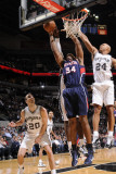 Atlanta Hawks v San Antonio Spurs: Jason Collins and Richard Jefferson Photographic Print by D. Clarke Evans
