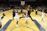Denver Nuggets v Charlotte Bobcats: Carmelo Anthony and Boris Diaw Photographic Print by  Streeter