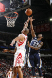 Memphis Grizzlies v Houston Rockets: O.J. Mayo and Shane Battier Photographic Print by Bill Baptist