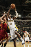 Cleveland Cavaliers  v Indiana Pacers: Roy Hibbert and Anderson Varejao Photographic Print by Ron Hoskins