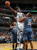 Charlotte Bobcats v Memphis Grizzlies: O.J. Mayo and Boris Diaw Photographic Print by Joe Murphy