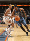 Minnesota Timberwolves v Charlotte Bobcats: Corey Brewer and Shaun Livingston Photographic Print by Brock Williams Smith