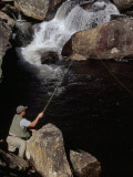 Man Fishing in the Whitewater River Photographic Print by Raymond Gehman