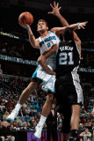 San Antonio Spurs v New Orleans Hornets: Marco Belinelli and Tim Duncan Photographic Print by Chris Graythen