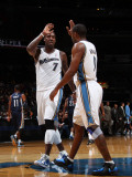 Memphis Grizzlies v Washington Wizards: Andray Blatche and Gilbert Arenas Photographic Print by Ned Dishman