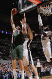Milwaukee Bucks v San Antonio Spurs: Andrew Bogut and Tiago Splitter Photographic Print by D. Clarke Evans