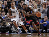 Miami Heat v Dallas Mavericks: LeBron James and Caron Butler Photographic Print by Glenn James