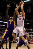 Los Angeles Lakers v Los Angeles Clippers: Blake Griffin and Lamar Odom Photographic Print by  Stephen