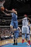 Minnesota Timberwolves v Dallas Mavericks: Michael Beasley and Jason Terry Photographic Print by Glenn James