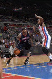 Atlanta Hawks v Detroit Pistons: Josh Smith and Greg Monroe Photographic Print by Allen Einstein