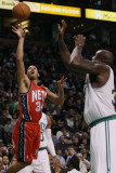 New Jersey Nets v Boston Celtics: Devin Harris and Shaquille O'Neal Photographic Print by  Elsa