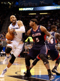 Atlanta Hawks v Orlando Magic: Vince Carter and Josh Smith Photographic Print by Sam Greenwood