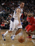Chicago Bulls v Dallas Mavericks: Jose Juan Barea and C.J. Watson Photographic Print by Danny Bollinger