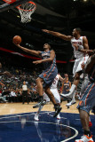 Charlotte Bobcats v Atlanta Hawks: Boris Diaw and Al Horford Photographic Print by Scott Cunningham