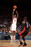 Miami Heat v New York Knicks: Toney Douglas and DwyaneWade Photographic Print by Nathaniel S. Butler