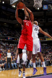 Houston Rockets v Sacramento Kings: Chuck Hayes and DeMarcus Cousins Photographic Print by Rocky Widner