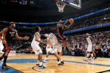 Miami Heat v Washington Wizards: LeBron James and JaVale McGee Photographic Print by Greg Fiume
