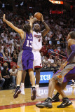 Phoenix Suns v Miami Heat: LeBron James and Steve Nash Photographic Print by Mike Ehrmann