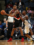 Portland Trail Blazers v Memphis Grizzlies: LaMarcus Aldridge and Darrell Arthur Photographic Print by Joe Murphy