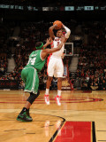 Boston Celtics v Toronto Raptors: Sonny Weems and Paul Pierce Photographic Print by Ron Turenne
