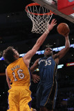 Washington Wizards v Los Angeles Lakers: Trevor Booker and Pau Gasol Photographic Print by  Jeff