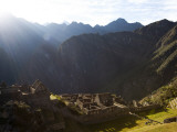 Machu Picchu, Ruins Leftover from the Inca Empire, on a Sunny Morning Photographic Print by Michael Hanson