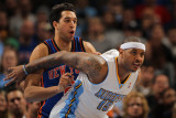New York Knicks v Denver Nuggets: Carmelo Anthony and Landry Fields Photographic Print by Doug Pensinger
