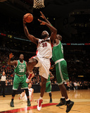 Boston Celtics v Toronto Raptors: Reggie Evans and Kevin Garnett Photographic Print by Ron Turenne