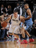 Minnesota Timberwolves v Dallas Mavericks: Jose Juan Barea and Sebastian Telfair Photographic Print by Glenn James