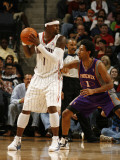 Phoenix Suns v Charlotte Bobcats: Stephen Jackson and Josh Childress Photographic Print by Brock Williams Smith