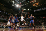 New York Knicks v Cleveland Cavaliers: Ramon Sessions, Amare Stoudemire and Landry Fields Photographic Print by David Liam Kyle