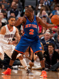 New York Knicks v Charlotte Bobcats: Raymond Felton and D.J. Augustin Photographic Print by Kent Smith