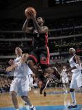 Miami Heat v Dallas Mavericks: LeBron James, Jason Kidd and Jason Terry Photographic Print by Glenn James