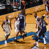 Memphis Grizzlies v Washington Wizards: Zach Randolph and Al Thornton Photographic Print by Ned Dishman
