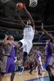 Phoenix Suns v Dallas Mavericks: Brendan Haywood, Hakim Warrick and Goran Dragic Photographic Print by Glenn James