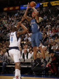 Minnesota Timberwolves v Dallas Mavericks: Michael Beasley and Caron Butler Photographic Print by Danny Bollinger