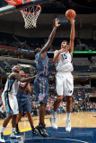 Charlotte Bobcats v Memphis Grizzlies: Hamed Haddadi and DeSagana Diop Photographic Print by Joe Murphy