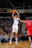 Houston Rockets v Sacramento Kings: Francisco Garcia and Kevin Martin Photographic Print by Rocky Widner