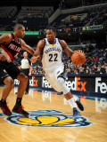Portland Trail Blazers v Memphis Grizzlies: Rudy Gay and Nicolas Batum Photographic Print by Joe Murphy