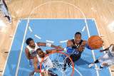 Orlando Magic v Denver Nuggets: Dwight Howard and Shelden Williams Photographic Print by Garrett Ellwood