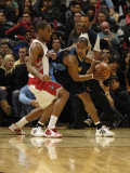 Denver Nuggets v Toronto Raptors: Aron Afflalo and DeMar DeRozan Photographic Print by Ron Turenne