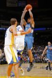 Minnesota Timberwolves v Golden State Warriors: Michael Beasley and Dorell Wright Photographic Print by Rocky Widner