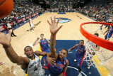 Detroit Pistons v Memphis Grizzlies: Sam Young and Tracy McGrady Photographic Print by Joe Murphy