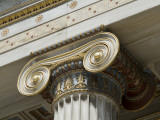 Gilded Volutes and Decoration on the Outside of the Academy of Athens Photographic Print by Richard Nowitz
