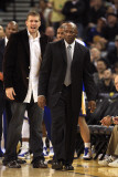 New York Knicks v Golden State Warriors: Keith Smart and David Lee Photographic Print by Ezra Shaw