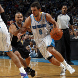 San Antonio Spurs v New Orleans Hornets: Marco Belinelli and Tony Parker Photographic Print by Layne Murdoch