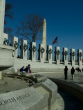 World War II Memorial Fotoprint van Todd Gipstein